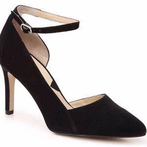 Adrienne Vittadini | Nili Suede Pump Ankle Strap